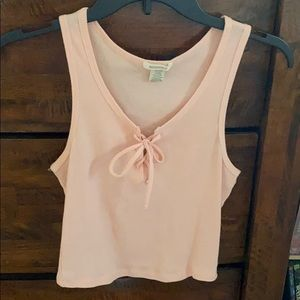 Light pink tank top.